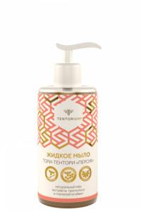 Жидкое мыло Тори-Тентори Персик с экстрактами прополиса и пчелиной огнёвки (320 мл)